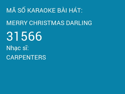 M s karaoke bi ht merry christmas darling 31566 carpenters greeting cards have all been sent the christmas rushes through but i still have one wish to make a special one for you merry christmas darlin m4hsunfo